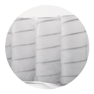 7-Zone pocket spring follows your body contour perfectly and provides proper spinal alignment. Each pocket spring works independently for maximum point of elasticity. It absorbs tiredness and firmly holds your body, achieving steady comfort throughout the night.