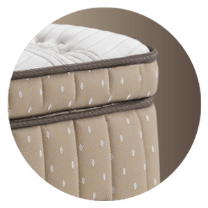 An Extra topper of larger and more plush euro top filled with luxurious fibers and talalay® latex layers, to fully spoil and indulge you in ultimate comfort.