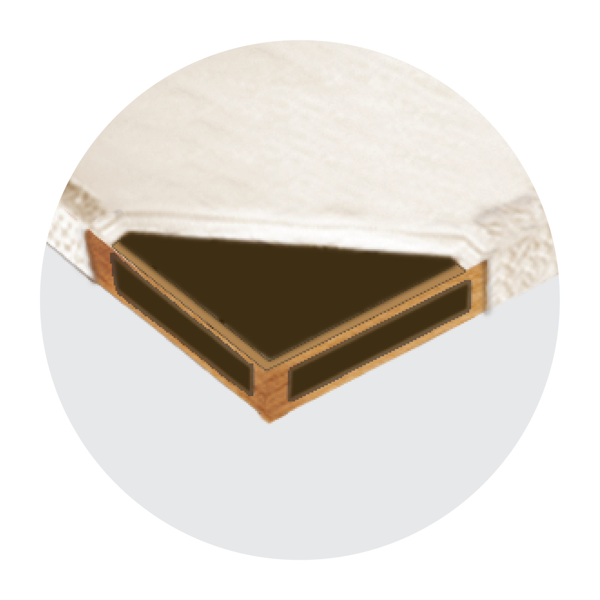 A firm support system which provides a steady and flat surface, holding your mattress firmly for even more stable and sturdy support.